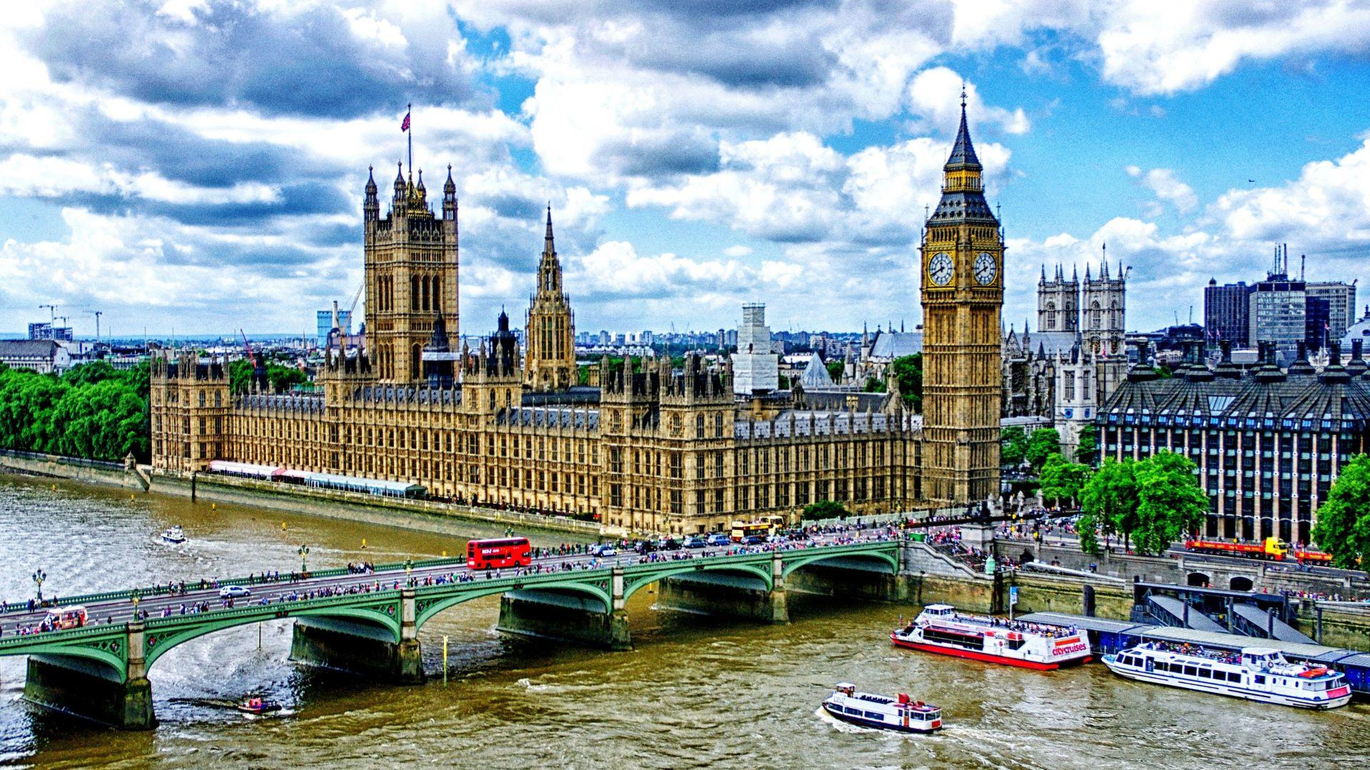 London Big Ben Palace Of Westminster River