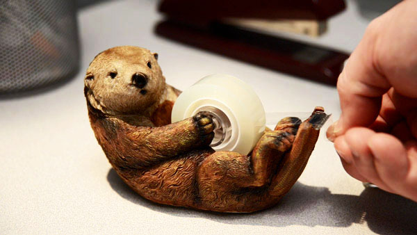 An otter tape dispenser