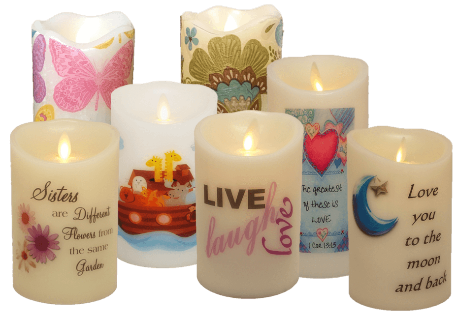 Flameless candle Decals