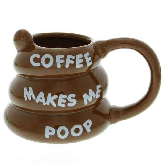 Poo Shaped Coffee Mug