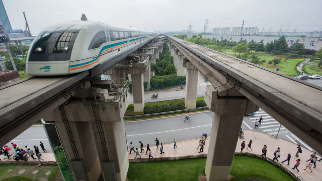 Shanghai Maglev Train Bridges