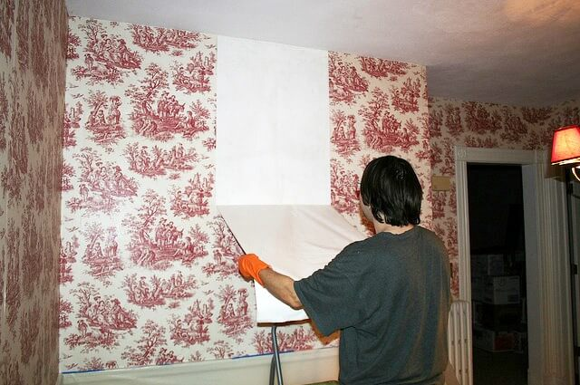 Try a patch of wallpaper
