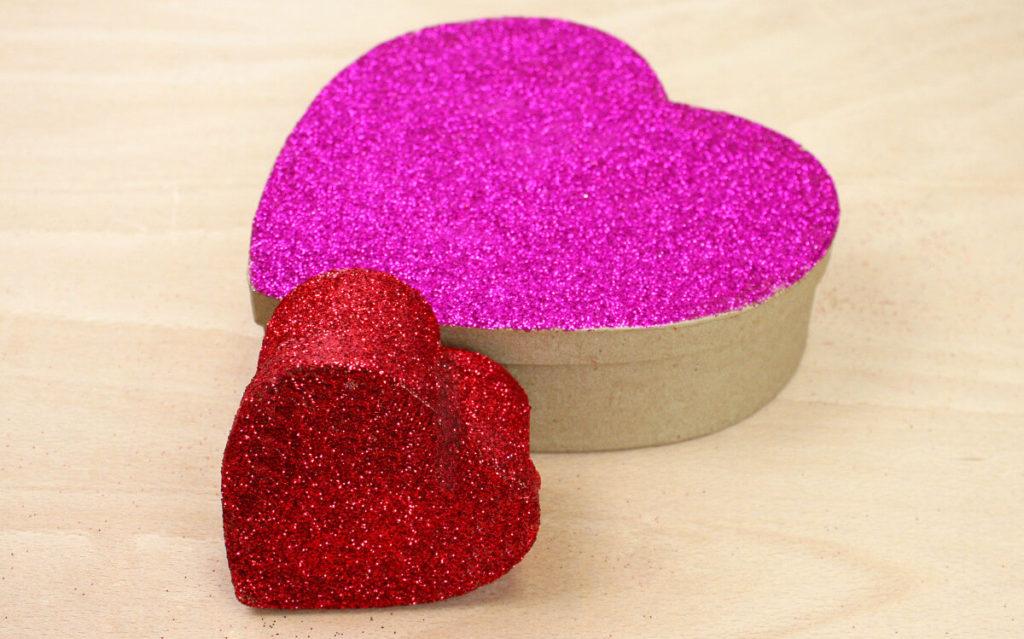 Glitter Heart Boxes