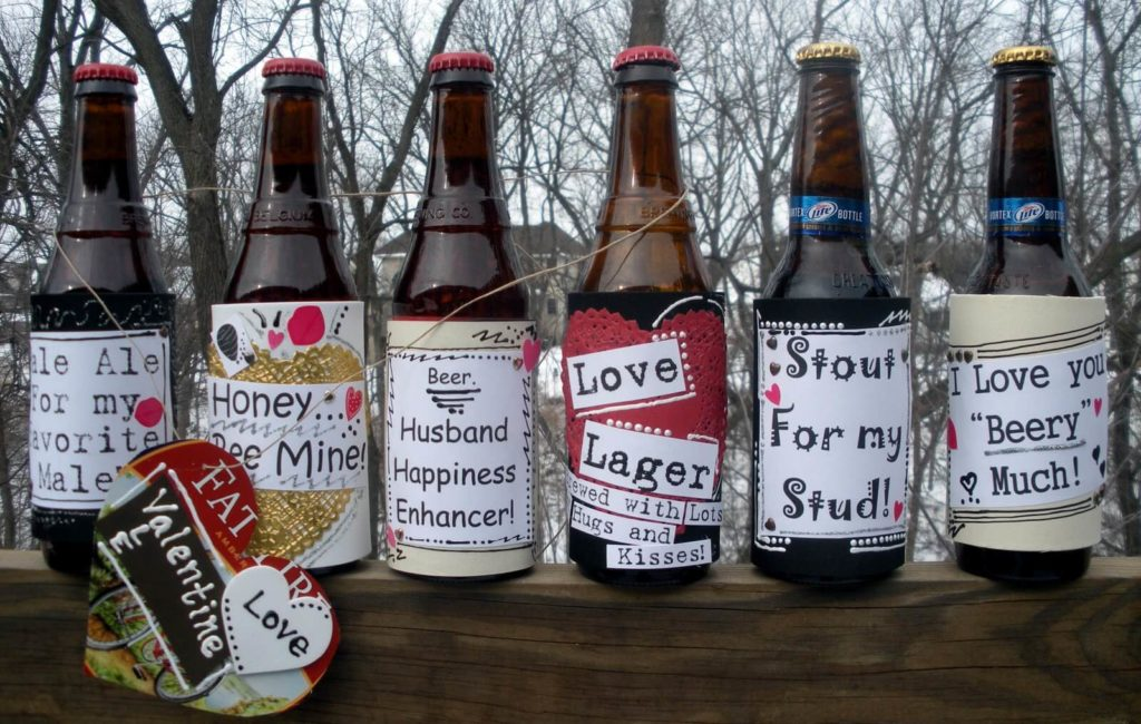 Valentine's Day Wine Bottle Labels