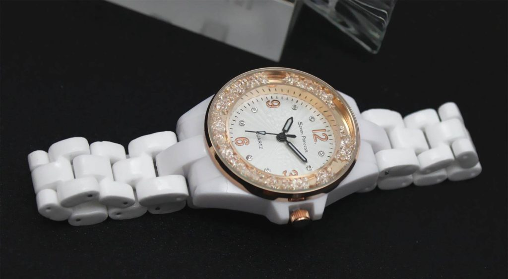 White Diamante Watch For Women