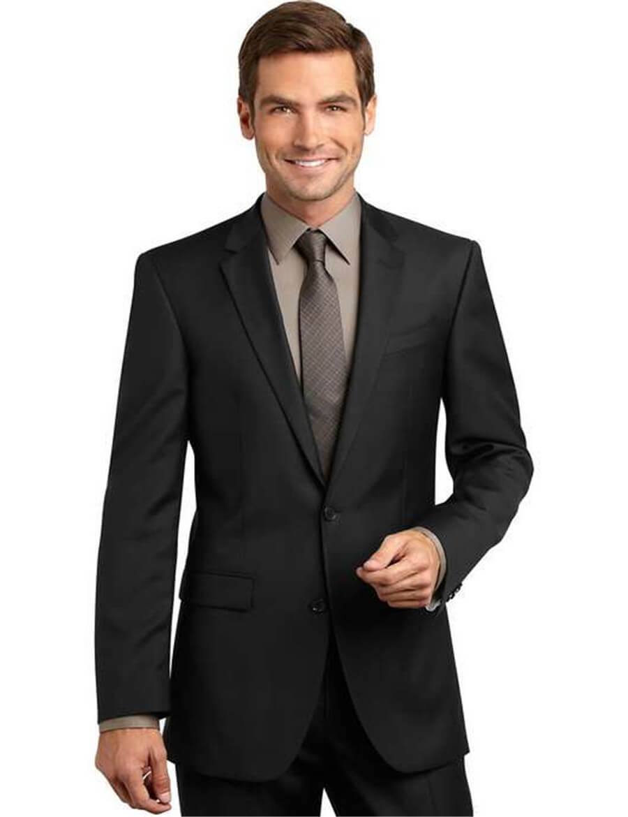 Black and Grey 2 Piece Suit