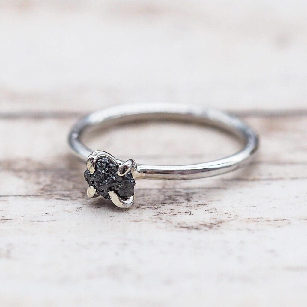 Bohemian Style Black Diamond Rings