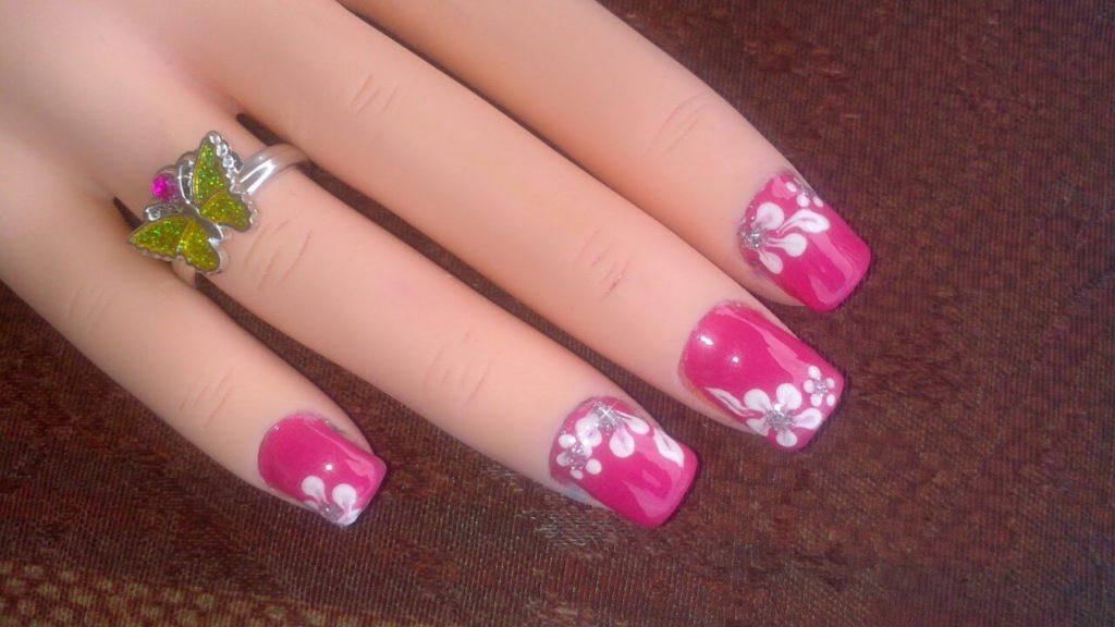 Flower Design Nail Art