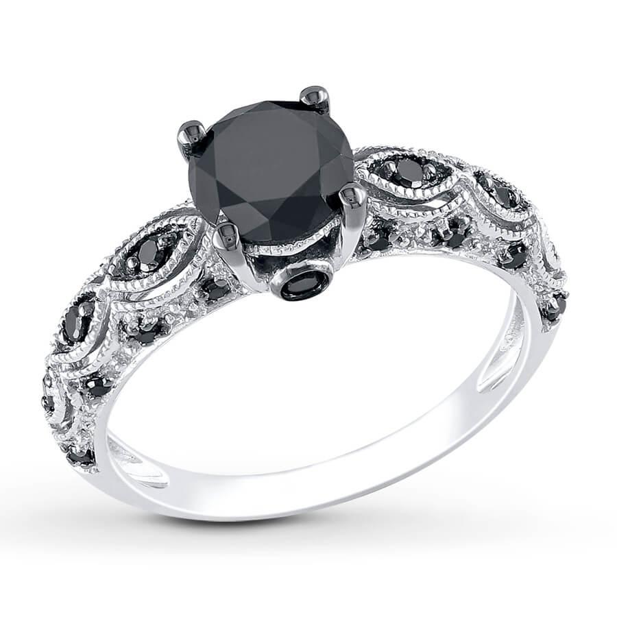 Matilda Round Cut Black Diamond Ring