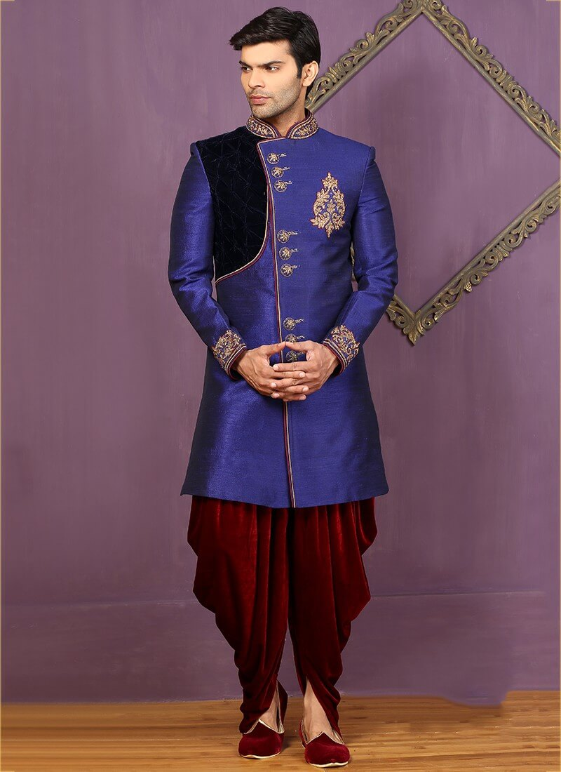 Purple Velvet Sherwani