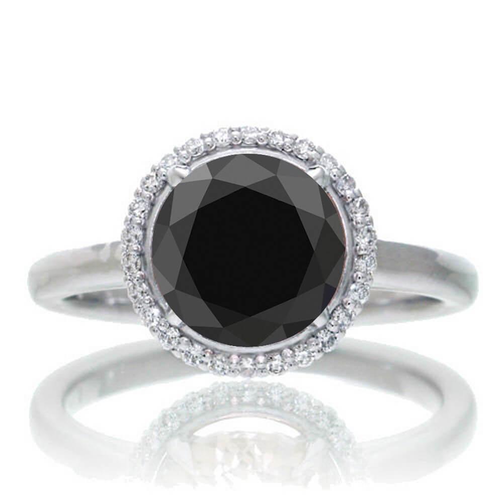 Round Black Diamond Ring