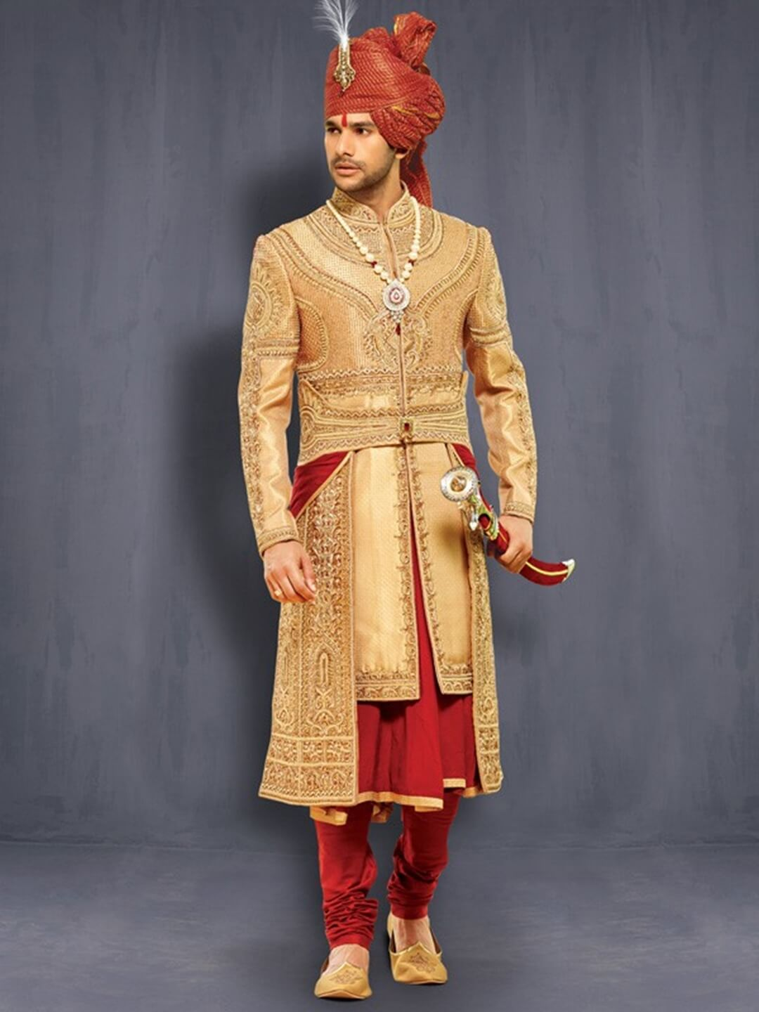 Sherwani With Kamarbandh