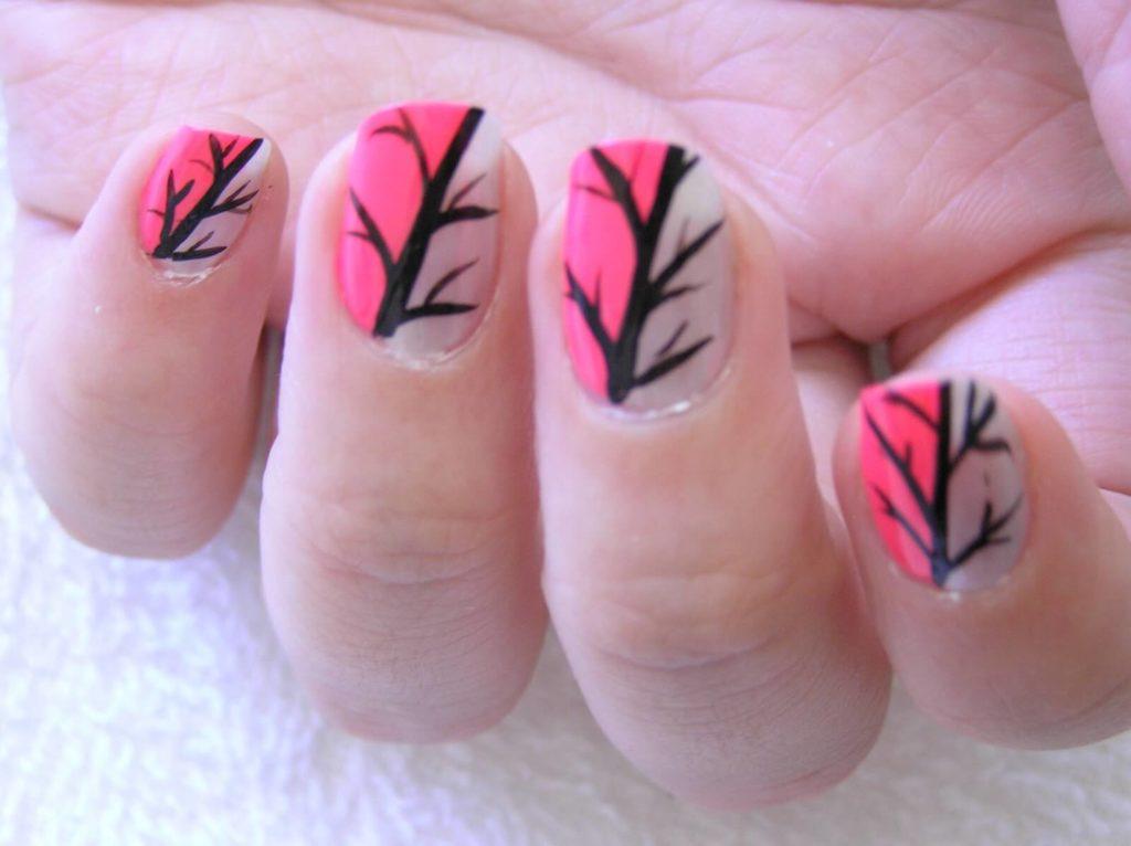 Tree & Branches Nail Art