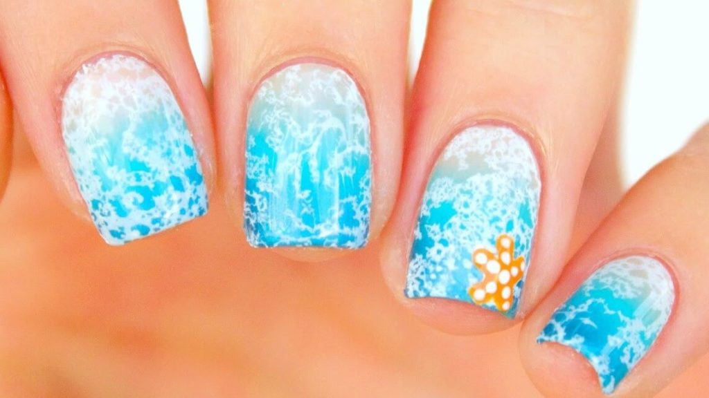 Water Spotted Beach Nails