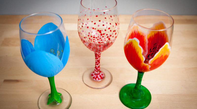 glass painting ideas