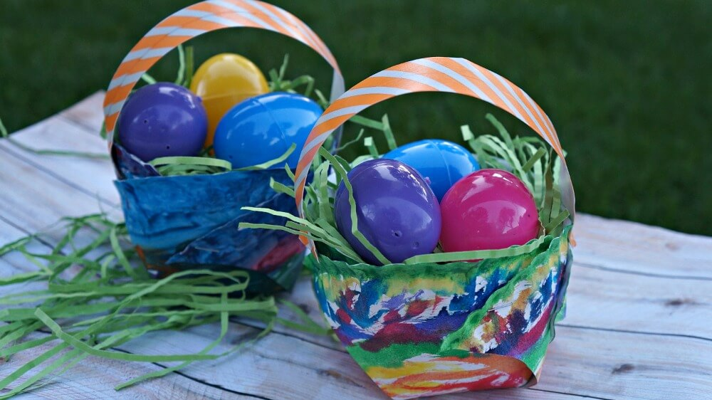 3D Paper Plate easter crafts Basket Idea