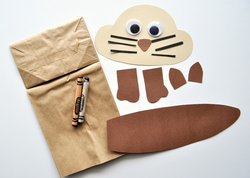 Brown Sack easter crafts Masks