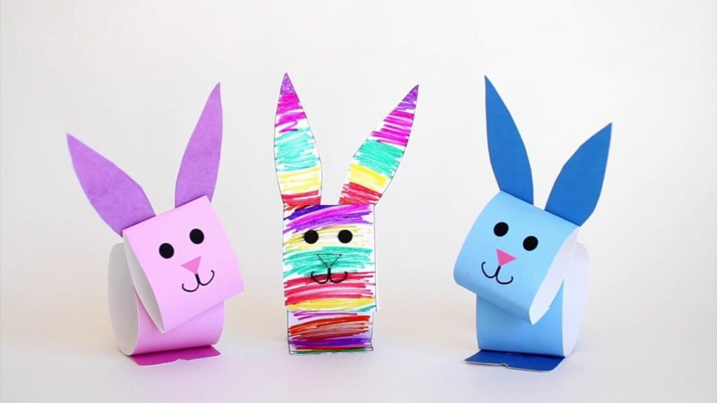 Bunny Puppet diy paper crafts