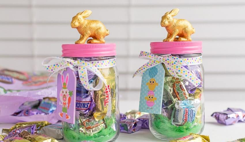 Easy easter crafts Candy Jars