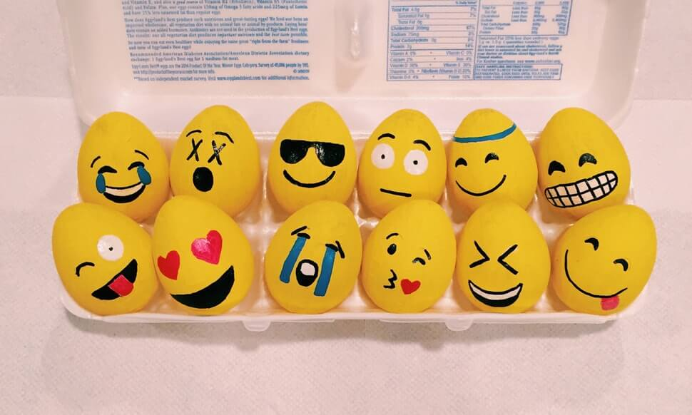 Emoji Eggs easter crafts