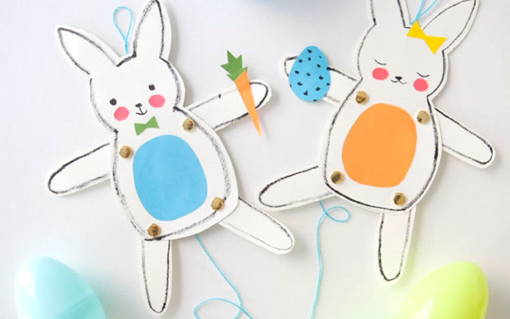 Jumping Jack easter crafts Bunnies