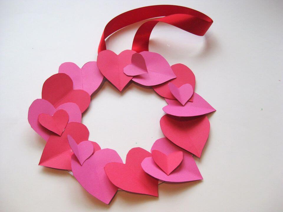 Love Heart Wreath diy paper crafts