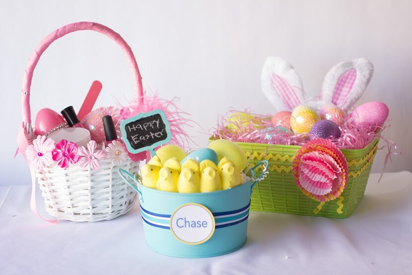 Mini Wooden easter crafts Baskets