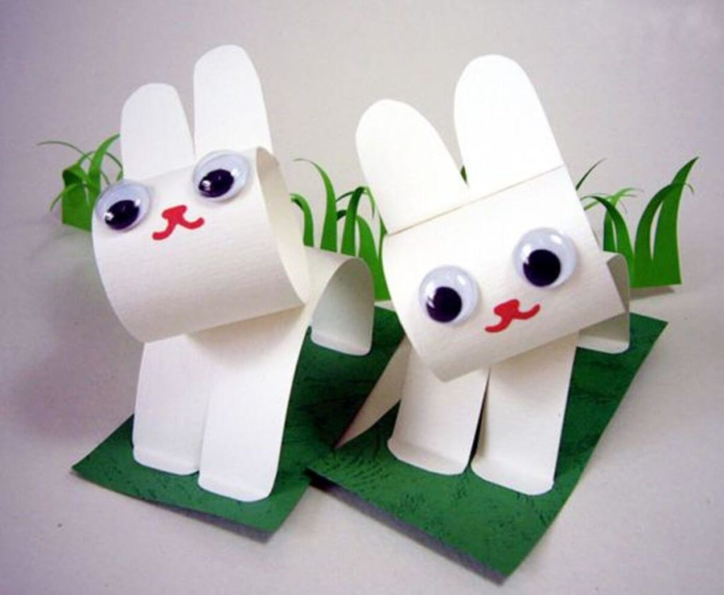 Paper Bunny easter crafts