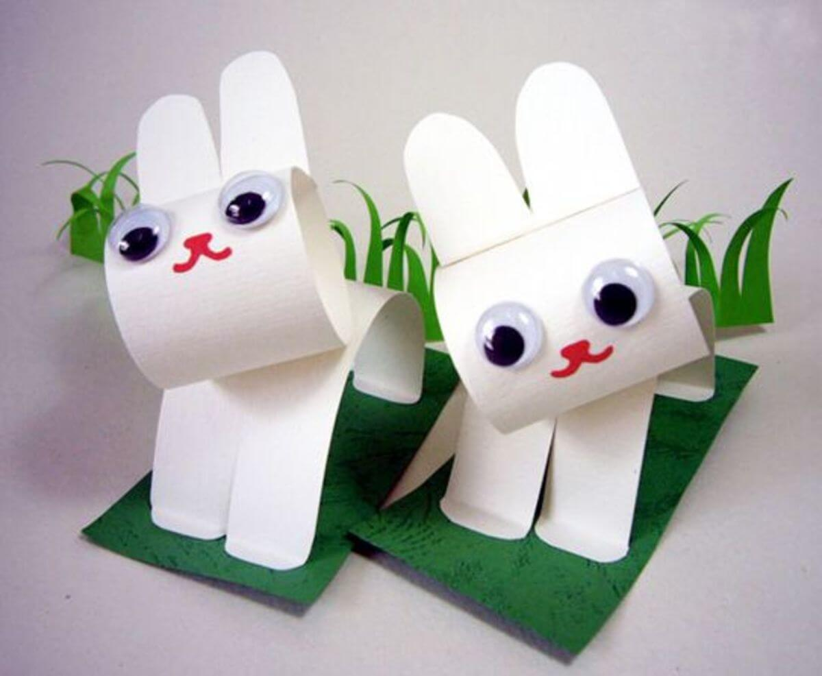 easter crafts paper construction craft easy bunny diy bunnies papercraft stuff fun animals preschoolers create think animal stumped could baby
