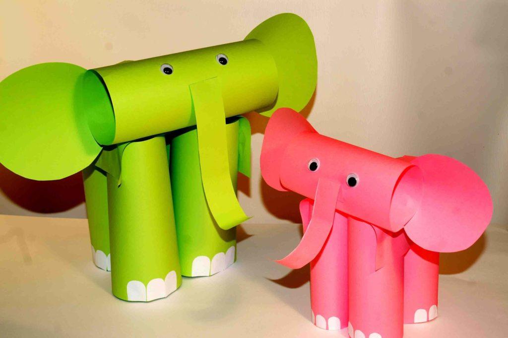Roll An Elephant diy paper crafts
