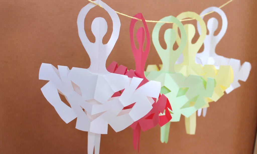 Snowflake Ballerinas diy paper crafts