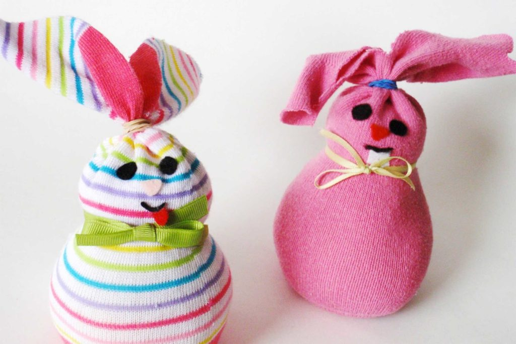 Sock Bunny easter crafts