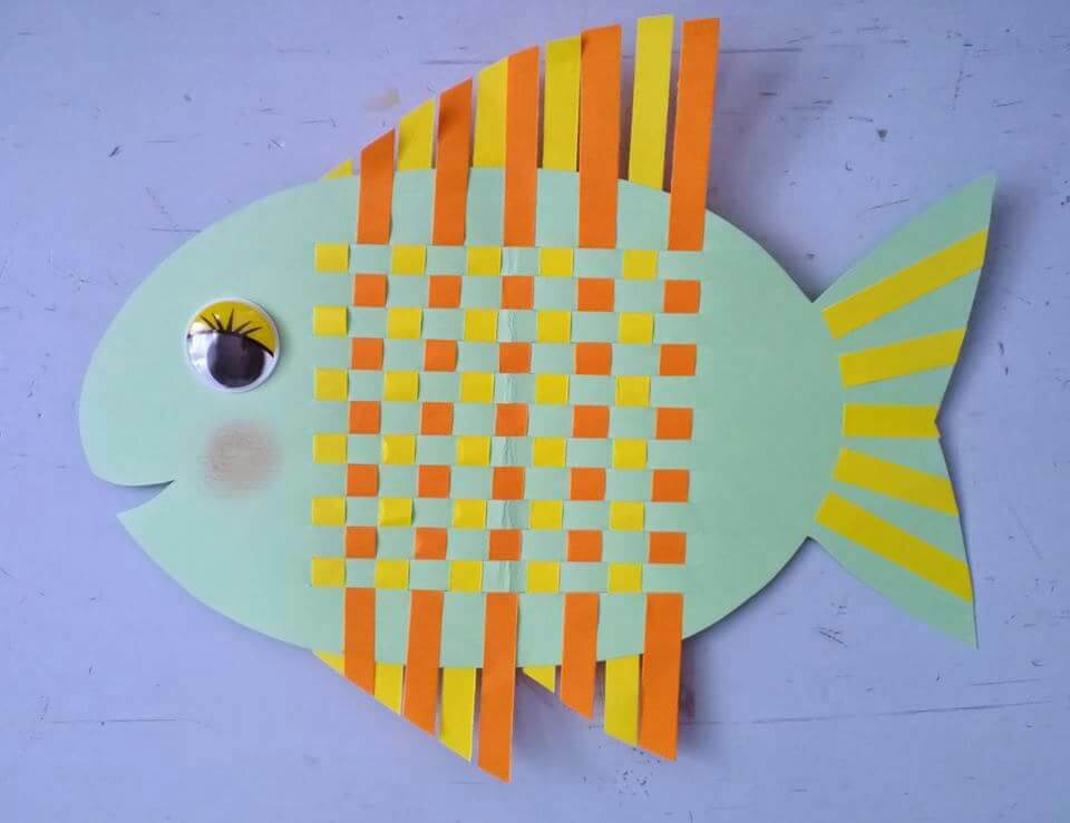 Weave A Fish diy paper crafts