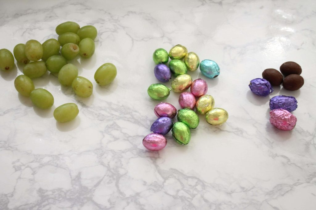 Wrap Grapes in Easter Egg Foils