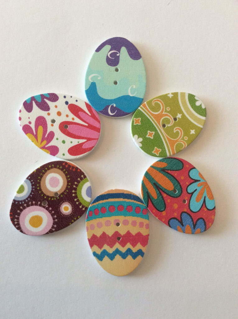 easter crafts Egg Buttons