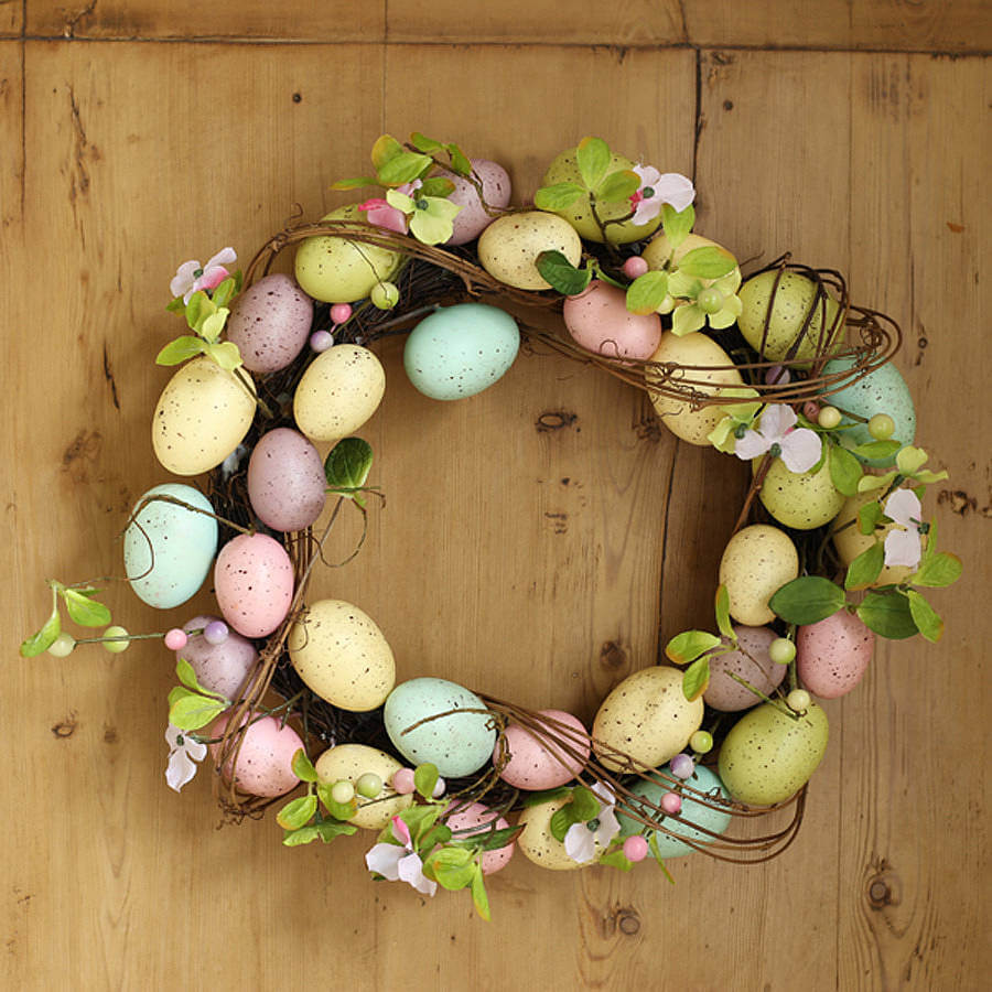 easter crafts Egg Wreath