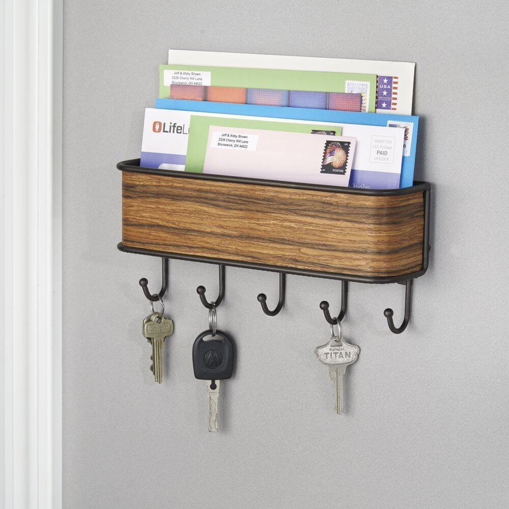 Envelope holders with key rack organizer