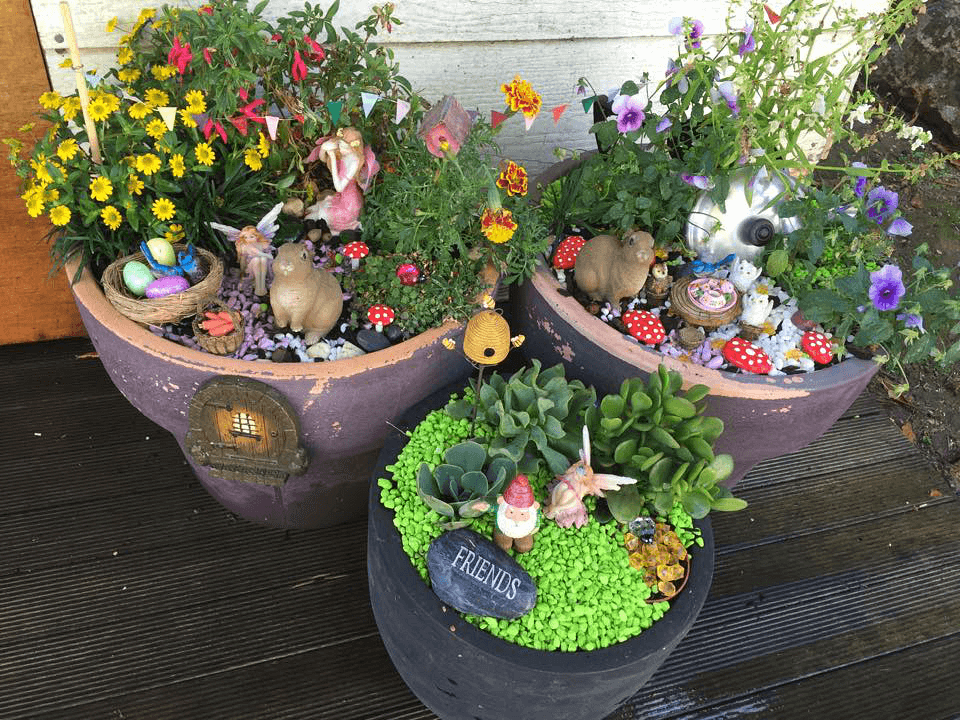 Mini Fairy Garden diy flower pot