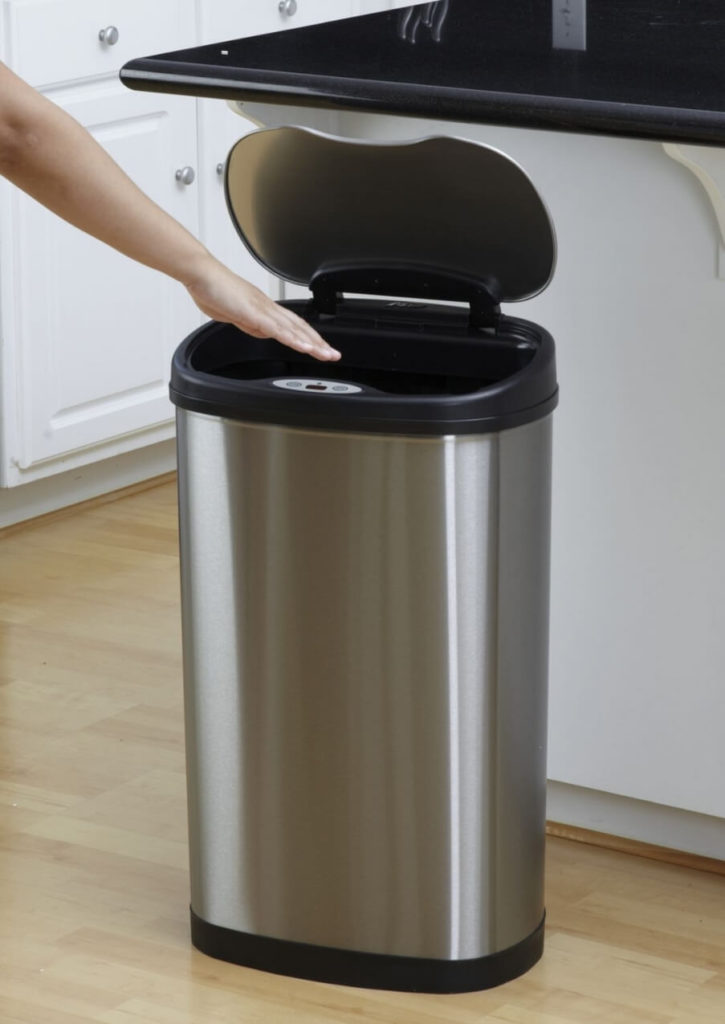 Motion Sensor Garbage Bin - smart home devices