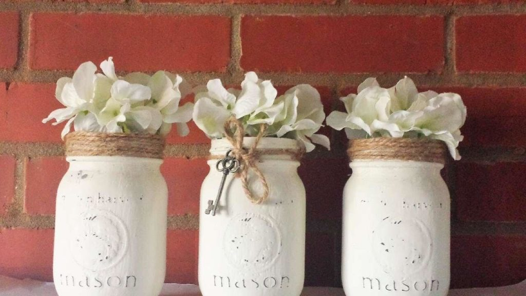 Rustic Painted Rope diy flower pot