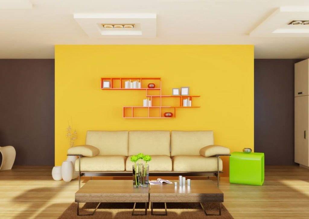 Yellow wall paint