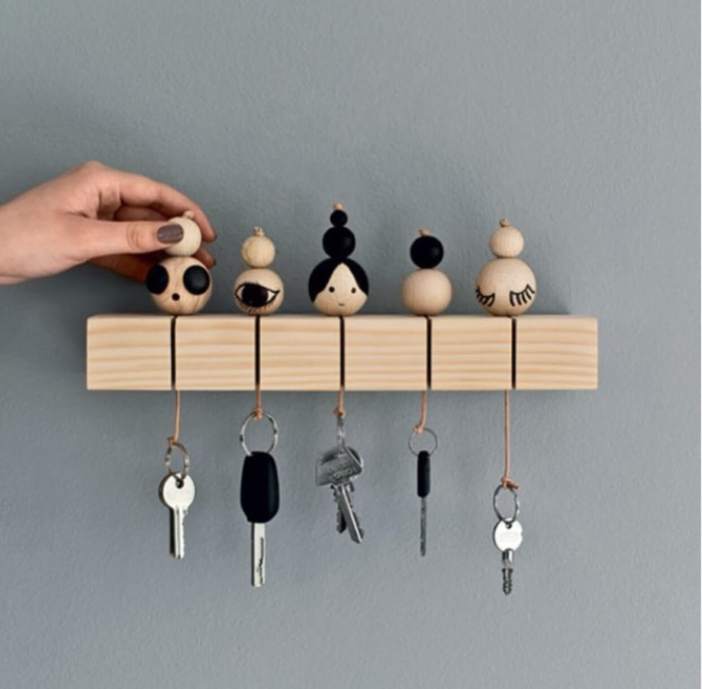 cute miniature doll diy Key Holder