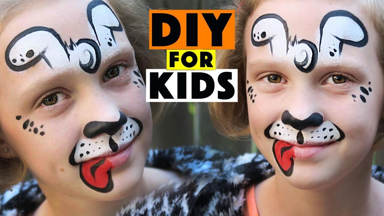 DIY Face Paint Ideas for Kids - A Cute Puppy Face Paint for Kids