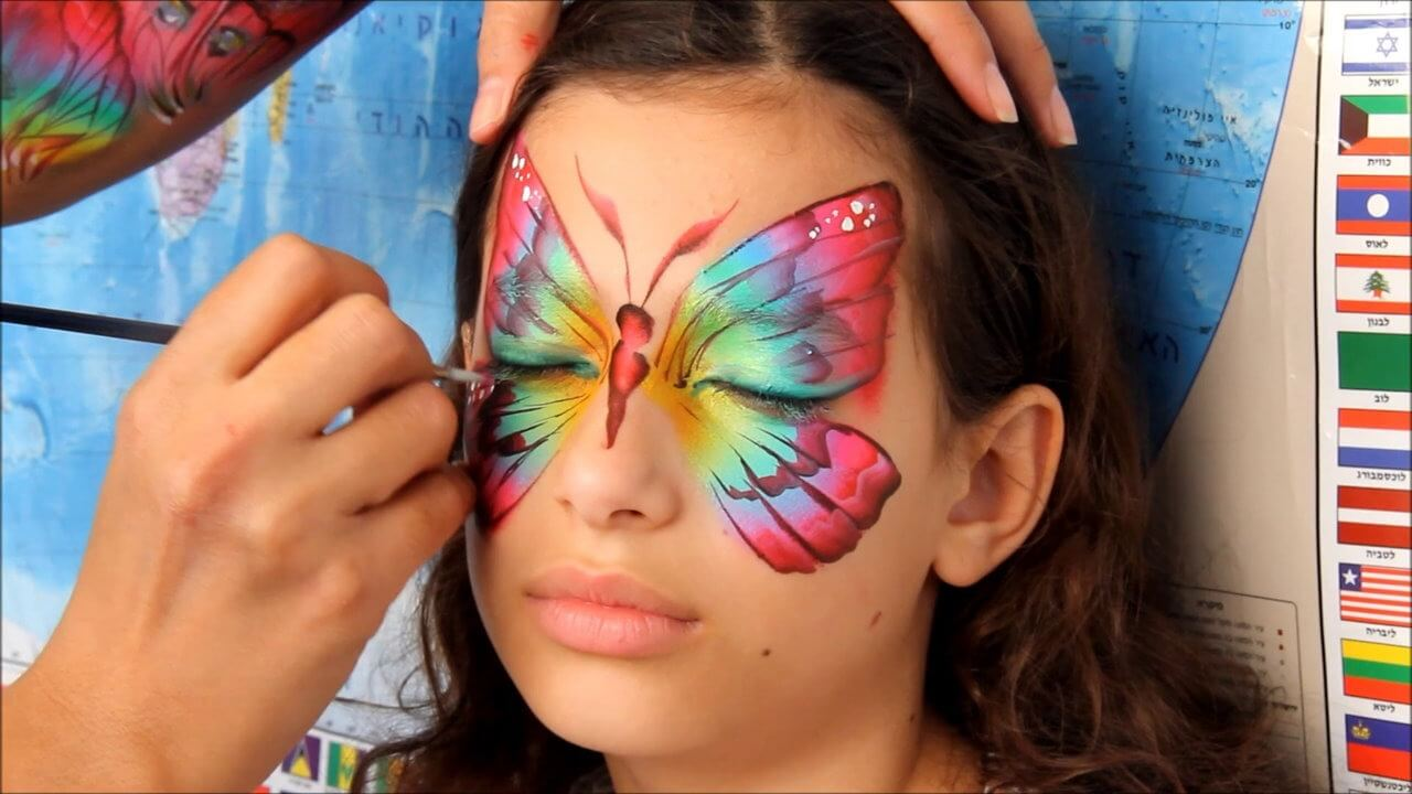 DIY Face Paint Ideas for Kids - Butterfly Face Paint for Girls