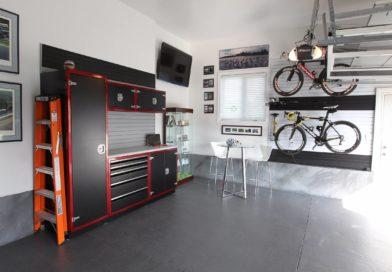 Redo the floor Garage Makeover
