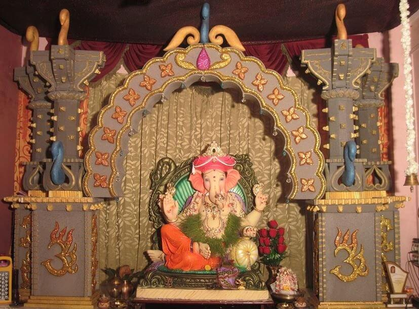 ganpati decoration at home