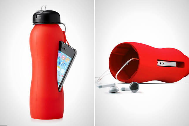 Store your phone water bottle