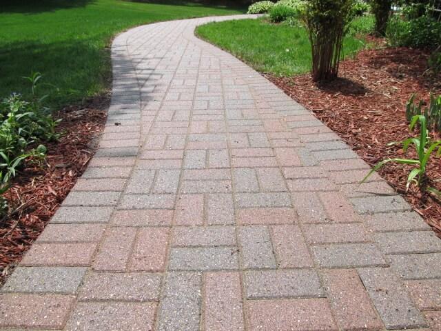 restored paver walkway