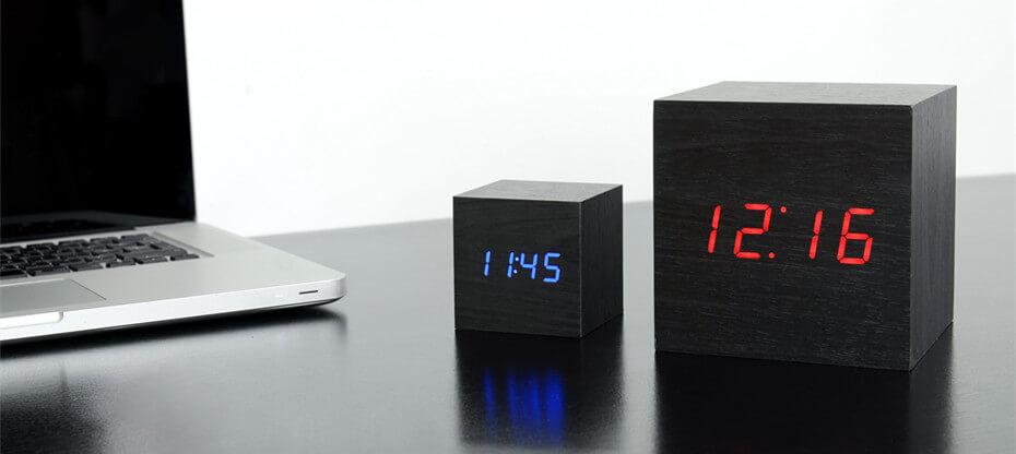 Gingko Click Cube Clock