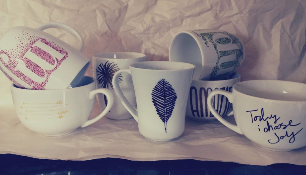 DIY sharpie mugs ideas